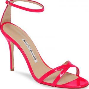 Neon Ankle Strap Sandal MANOLO BLAHNIK